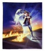 Back To The Future 1985 Fleece Blanket