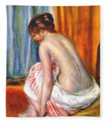 Back View Of A Bather 1893 Fleece Blanket
