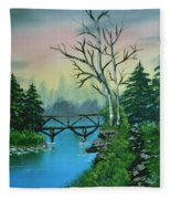 Back Woods Bridge Fleece Blanket