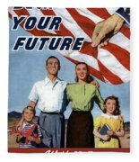 Back Your Future With Us Savings Bonds Fleece Blanket