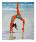 Backflip At The Beach Fleece Blanket