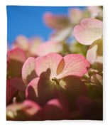 Backlit Hydrangea Fleece Blanket