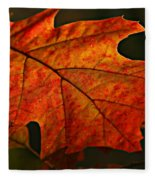 Backlit Leaf Fleece Blanket