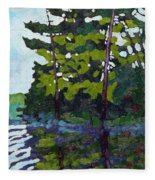 Backlit Pines Fleece Blanket