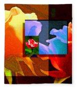 Backlit Roses Fleece Blanket