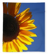 Backlit Sunflower Fleece Blanket
