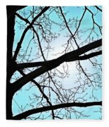 Backlit Tree Fleece Blanket
