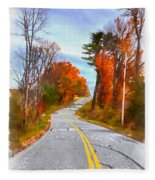 Backroads Vermont Fleece Blanket