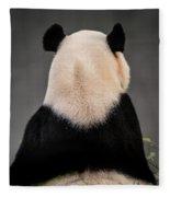 Backward Panda Fleece Blanket