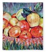 Backyard Apples Fleece Blanket