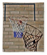 Backyard Basketball Fleece Blanket