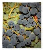 Backyard Garden Series - Grapes And Vines Fleece Blanket