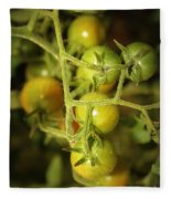 Backyard Garden Series - Green Cherry Tomatoes Fleece Blanket