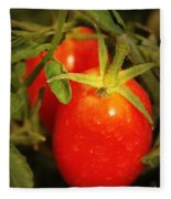 Backyard Garden Series - Roma Tomatoes Fleece Blanket