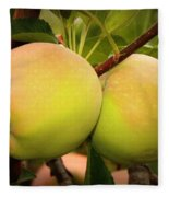 Backyard Garden Series - Two Apples Fleece Blanket