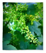 Backyard Garden Series - Young Grapes Fleece Blanket