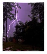 Backyard Lightning Fleece Blanket
