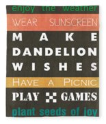 Backyard Rules Fleece Blanket