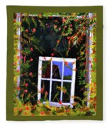 Backyard Window Fleece Blanket