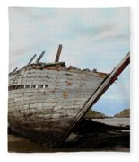Bad Eddie's Boat Donegal Ireland Fleece Blanket