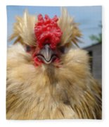 Bad Tempered Bearded Bantam Fleece Blanket