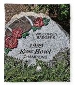Badger Rose Bowl Win 1999 Fleece Blanket