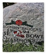 Badgers Rose Bowl Win 1994 Fleece Blanket