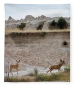 Badlands Deer Sd Fleece Blanket