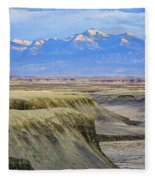 Badlands Of Utah Fleece Blanket