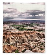 Badlands Panorama Fleece Blanket