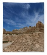 Badlands View From A Trail Fleece Blanket