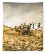 Bagdad Crisp Winter Countryside Fleece Blanket