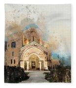 Bagrati Cathedral Fleece Blanket