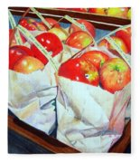 Bags Of Apples Fleece Blanket