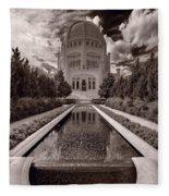 Bahai Temple Reflecting Pool Fleece Blanket