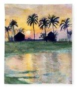 Bahama Palm Trees Fleece Blanket