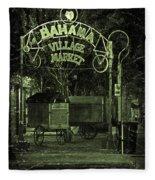 Bahama Village Market Key West Florida Fleece Blanket