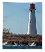 Bahamas Lighthouse Fleece Blanket
