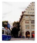 Bahnhofstrasse Zurich Fleece Blanket
