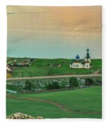 Baikal And The Village Fleece Blanket