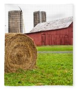 Bail And Barn Fleece Blanket