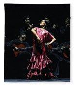 Bailarina Orgullosa Del Flamenco Fleece Blanket