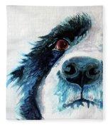 Bailey Our Border Collie Fleece Blanket