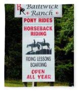 Bailiwick Ranch 5 Fleece Blanket