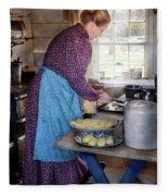 Baker - Preparing Dinner Fleece Blanket