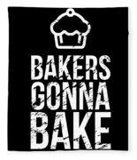 Bakers Gonna Bake Light Cupcake Baking Fleece Blanket