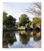 Bakewell Bridge And The River Wye Fleece Blanket