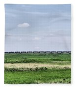 Bakken Crude On Rail Fleece Blanket