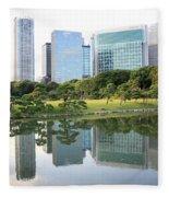 Balance In Tokyo Fleece Blanket