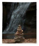 Balanced Stones Waterfall Fleece Blanket